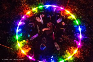 Ostara Hoop Mandala. Photo by Bellawillo Photography